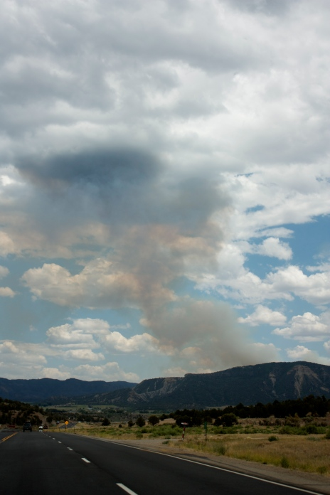 Colorado forest fire.