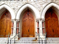Church doors in Lambertville, NJ
